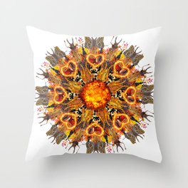 horrible insects mandala Throw Pillow