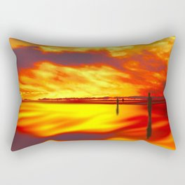 Reflections of Sunset Rectangular Pillow