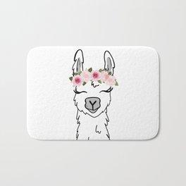 Floral Crown Llama Bath Mat
