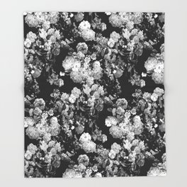 Through The Flowers // Floral Collage Throw Blanket