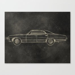 Supernatural: Impala Canvas Print