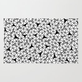 abstract triangle pattern Rug