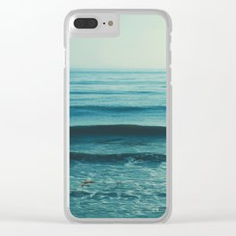 beach waves. Somewhere Clear iPhone Case