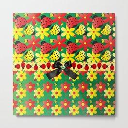 Ladybug Hoopla Metal Print