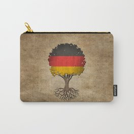Vintage Tree of Life with Flag of Germany Carry-All Pouch