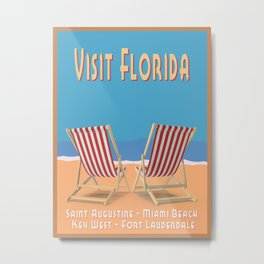 Florida Vintage Travel Poster Metal Print