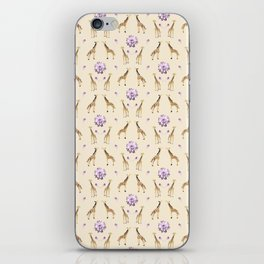 Giraffes And Flowers iPhone Skin