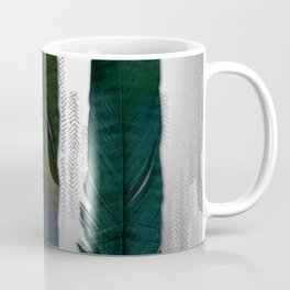 Feathers on silver Coffee Mug