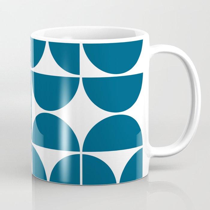 Mid Century Modern Geometric 04 Blue Coffee Mug