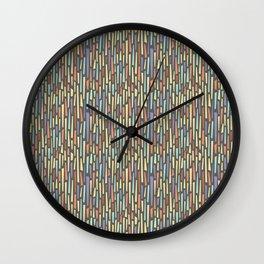 Saul Bass-Inspired Midcentury Rectangles Wall Clock