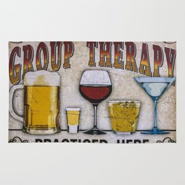 Group therapy practiced here Rug