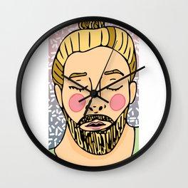 Sweet Beardy Man 4 Wall Clock