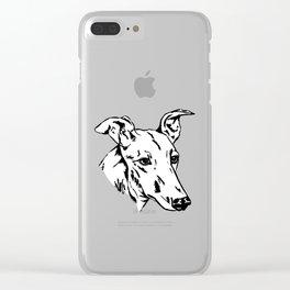 Greyhound Clear iPhone Case