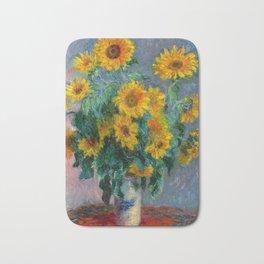 Bouquet of Sunflowers - Claude Monet Bath Mat