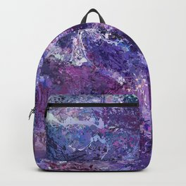 Violet drip abstraction Backpack