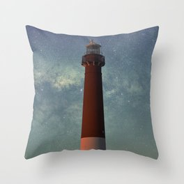 Barnegat Lighthouse State Park in New Jersey Throw Pillow