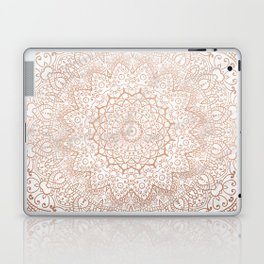 Mandala - rose gold and white marble 3 Laptop & iPad Skin