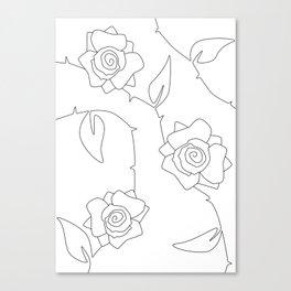 Rose Bush Canvas Print