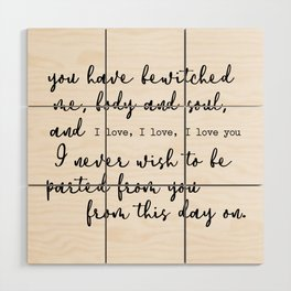 Pride and Prejudice Wood Wall Art