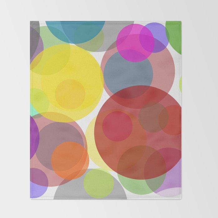 Circles Throw Blanket