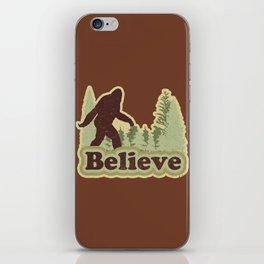 Bigfoot Believe iPhone Skin