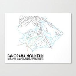 Panorama, BC, Canada - Minimalist Trail Art Canvas Print