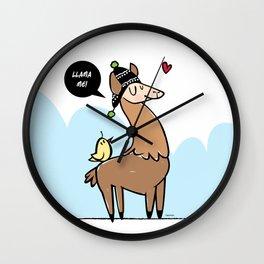 Llama Me! Wall Clock
