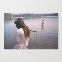 Evie and Sophia, Loch Raven 2014 Canvas Print
