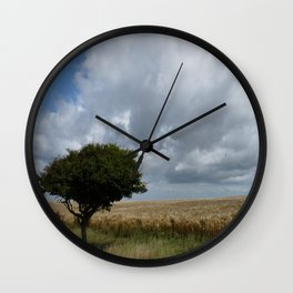 Tree and Clouds Wall Clock