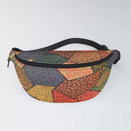 Japanese colorful quilt patchwork Fanny Pack