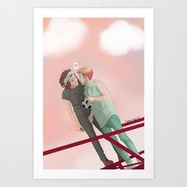 On A Date Art Print