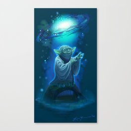 Yoda and the Force Canvas Print