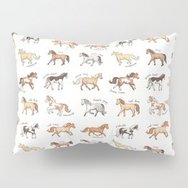 Horses - different colours and markings illustration Pillow Sham