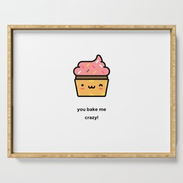 JUST A PUNNY CUPCAKE JOKE! Serving Tray