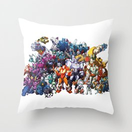 30 Days of Transformers - More Than Meets The Eye cast Throw Pillow