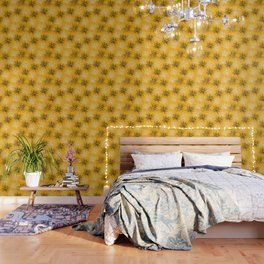 Yellow Squiggles Wallpaper