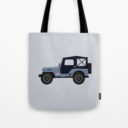 Mike's Winterblue Willys Jeep Tote Bag