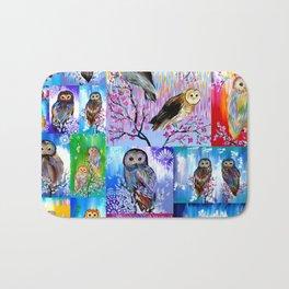 abstract owls Bath Mat