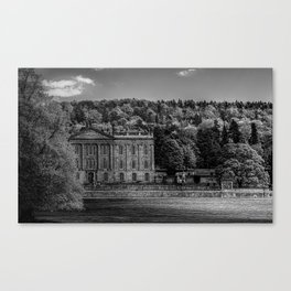 Chatsworth country house Canvas Print