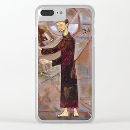 Francis of Assisi Francisco Juan Manuel Rocha Kinkin Clear iPhone Case