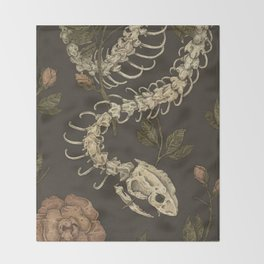 Snake Skeleton Throw Blanket
