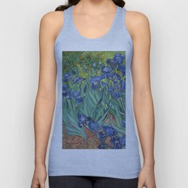 Irises by Van Gogh Unisex Tank Top