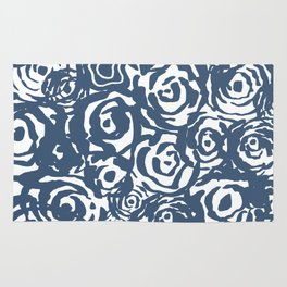 Navy Flower Bundle Rug