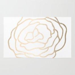 Flower in White Gold Sands Rug