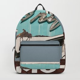 Vintage Neon Sign - The Drifter - Silver City Backpack