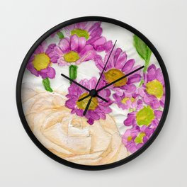 Blushing Bride Wall Clock