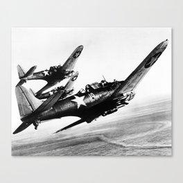 Vintage fighters Canvas Print