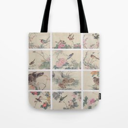 Chinese painting Birds Flowers Tote Bag