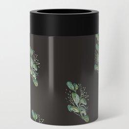 Eucalyptus Sprig on Black Can Cooler