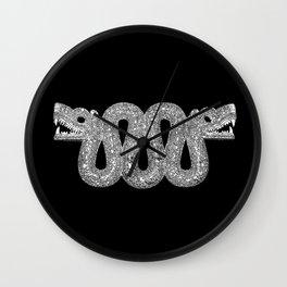 Double Headed Serpent-Cosmic Serpent-Aztec-mythological symbol-Mesoamerica Wall Clock